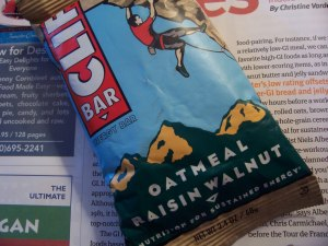 cliff bars = yum!